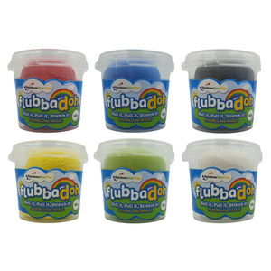 flubbadoh - Classic Pack of 6 (Blue, Yellow, Red, Green, Black, White)