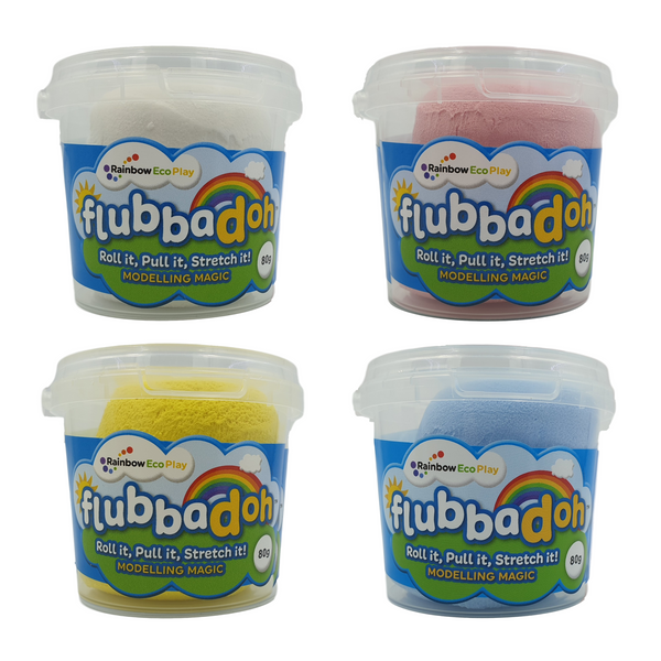 flubbadoh - Easter Pack of 4 (Pink, Yellow, Pale Blue, White)