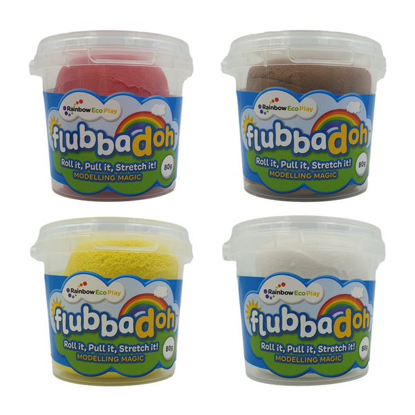 flubbadoh - Emoji Pack of 4 (Yellow, Red, Brown, White)