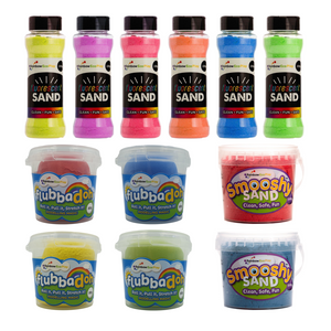 Mini Craft Pack - (Smooshy, flubbadoh, Fluorescent Sand Shakers)