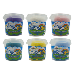 flubbadoh - Unicorn Pack of 6 (Pink, Yellow, Pale Blue, White, Purple, Turquoise)