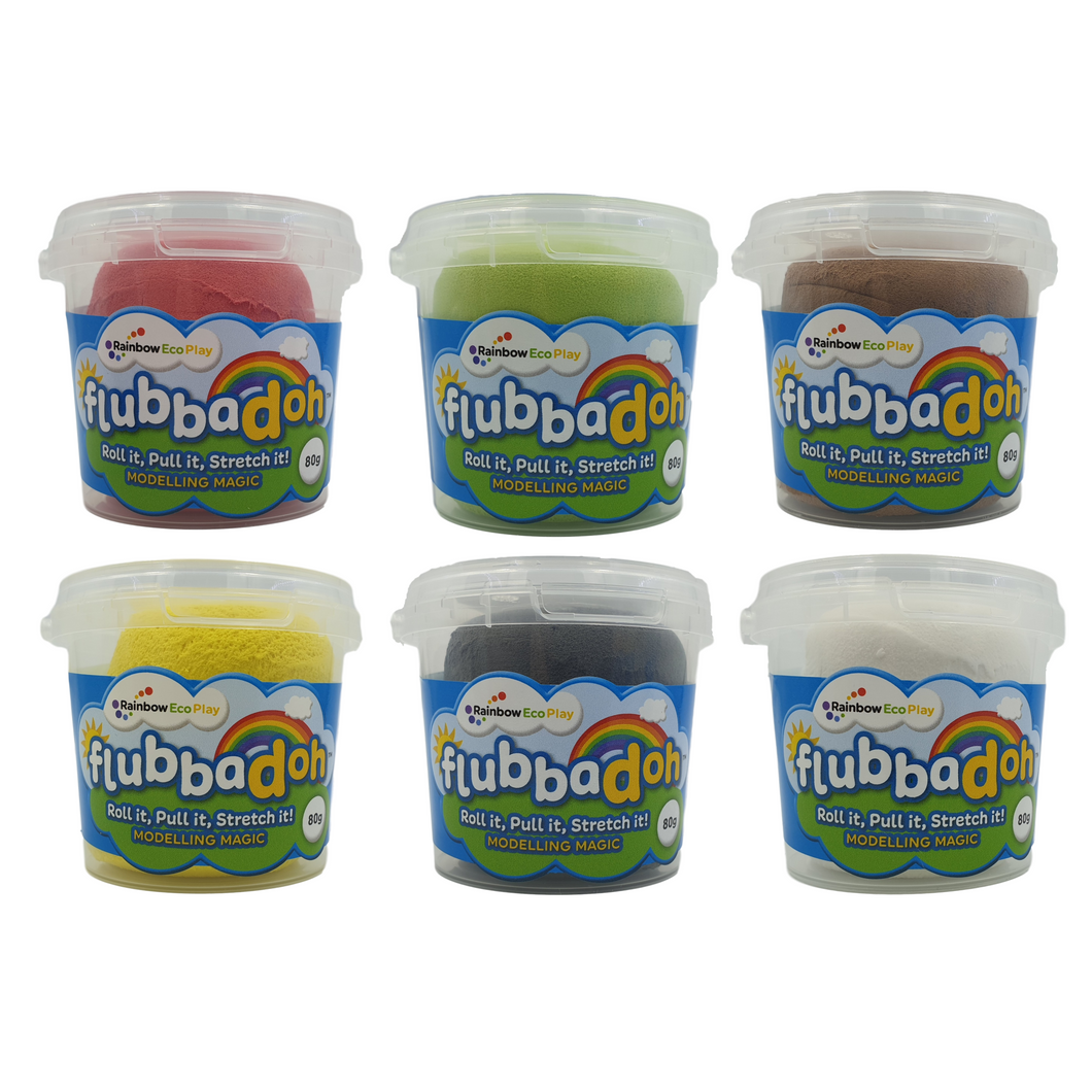 flubbadoh - Christmas Pack of 6 (Green, White, Red, Brown, Blue, Yellow)