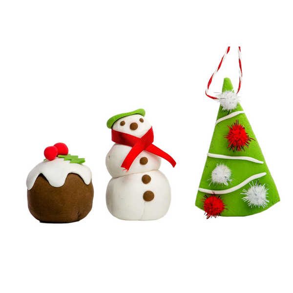 flubbadoh - Christmas Pack of 4 (Green, White, Red, Brown)
