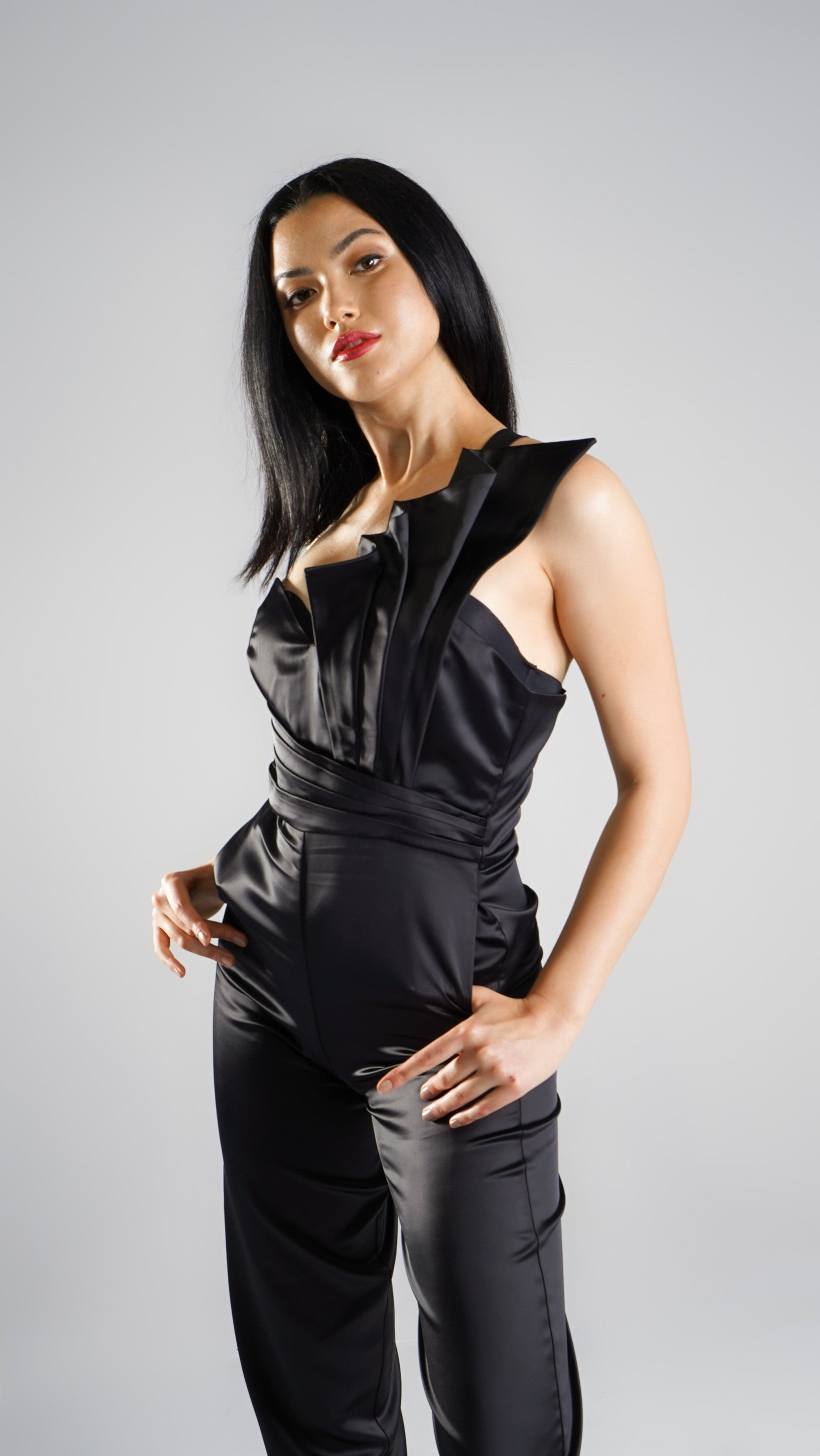 Black One Shoulder Designer Jumpsuit for Women in Australia