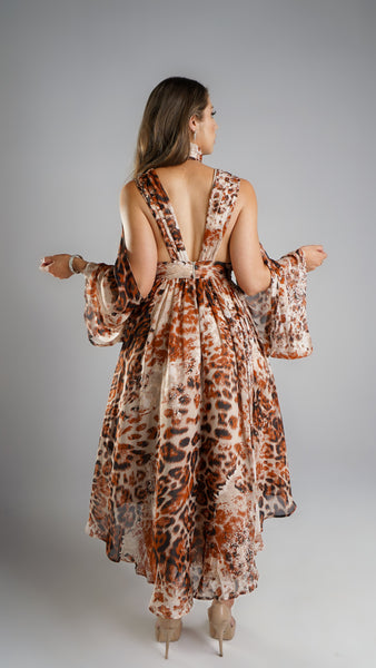 Leopardo Assymetric Dress