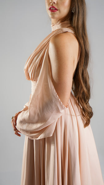 Angelica Maxi Mauve Dress