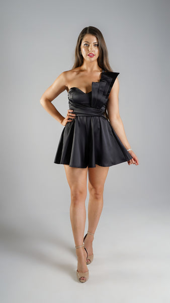 Luna Black Playsuit