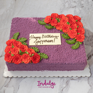 Ube Cake (12 by 15 inches Rectangle)