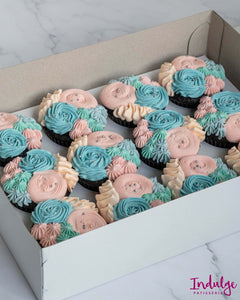 Custom Cupcakes - Chico Gender Reveal Design