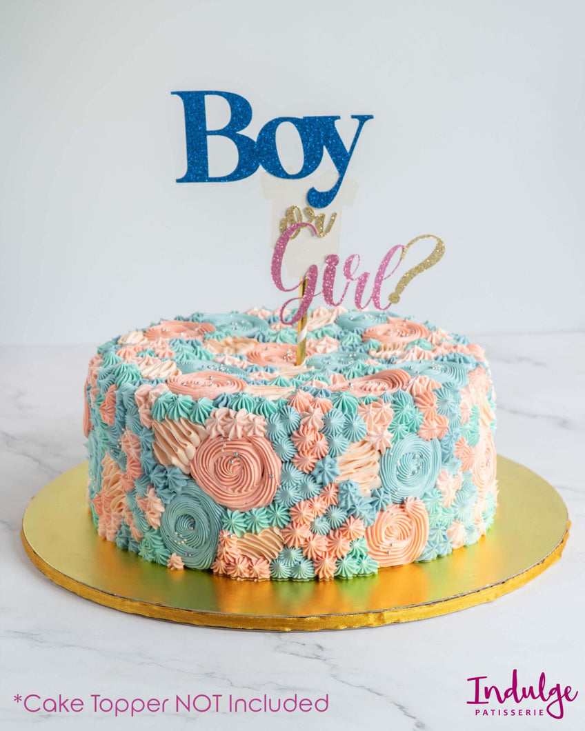 Custom Vanilla Cake - Chico Gender Reveal