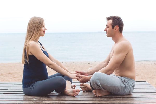 The couple's yoga