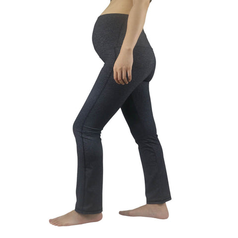 Elfus Maternity Yoga Pants in Dark Grey