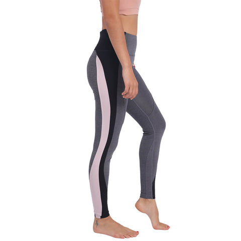 Elfus High-waisted Yoga Pants in Multi-color Grey