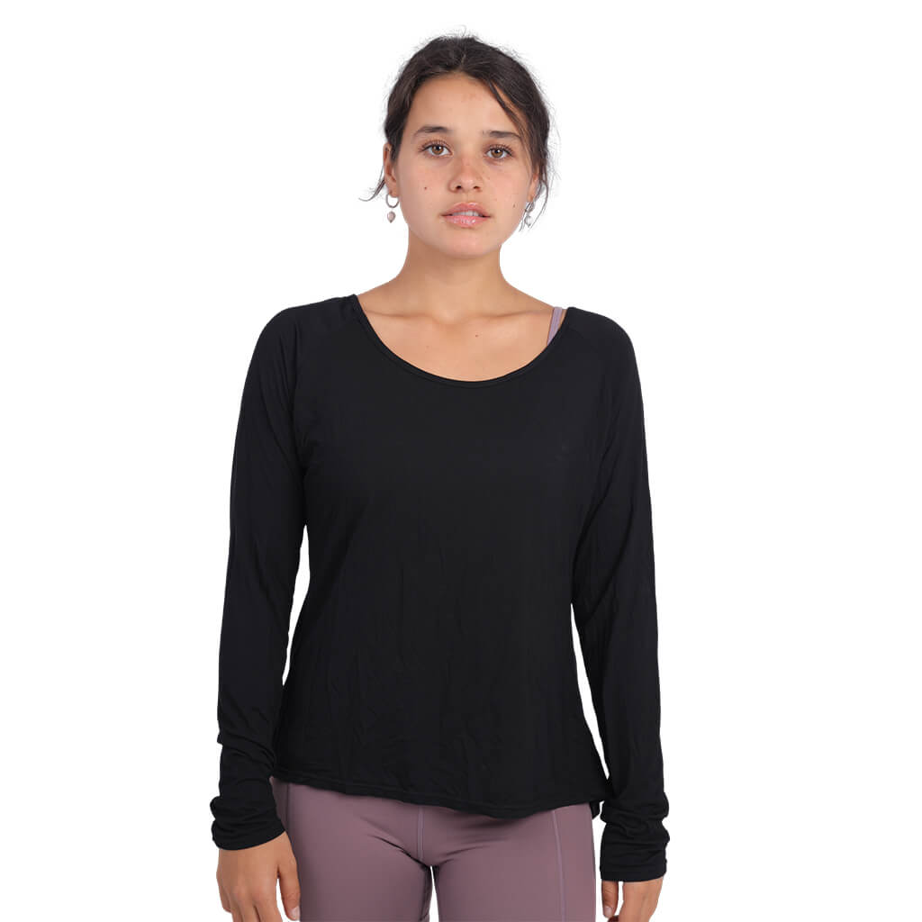 long sleeve yoga tops