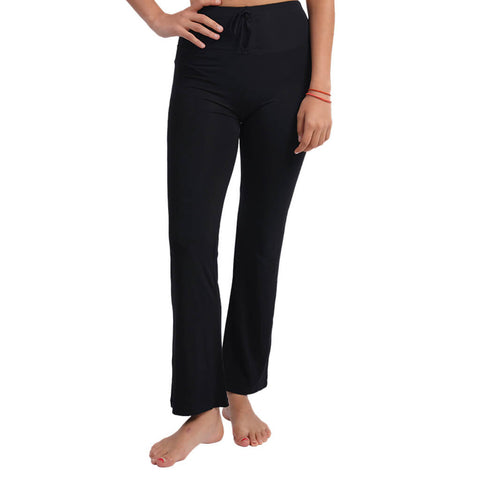 Women High-waisted Cotton Yoga Pants in Black, White