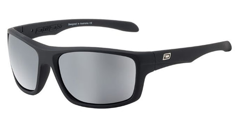 Dirty Dog AXLE Satin Black/Grey Silver Mirror Polarised