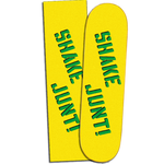 "SHAKE JUNT GRIPTAPE YELLOW ""SPRAYED LOGO"" GREEN/BLK"
