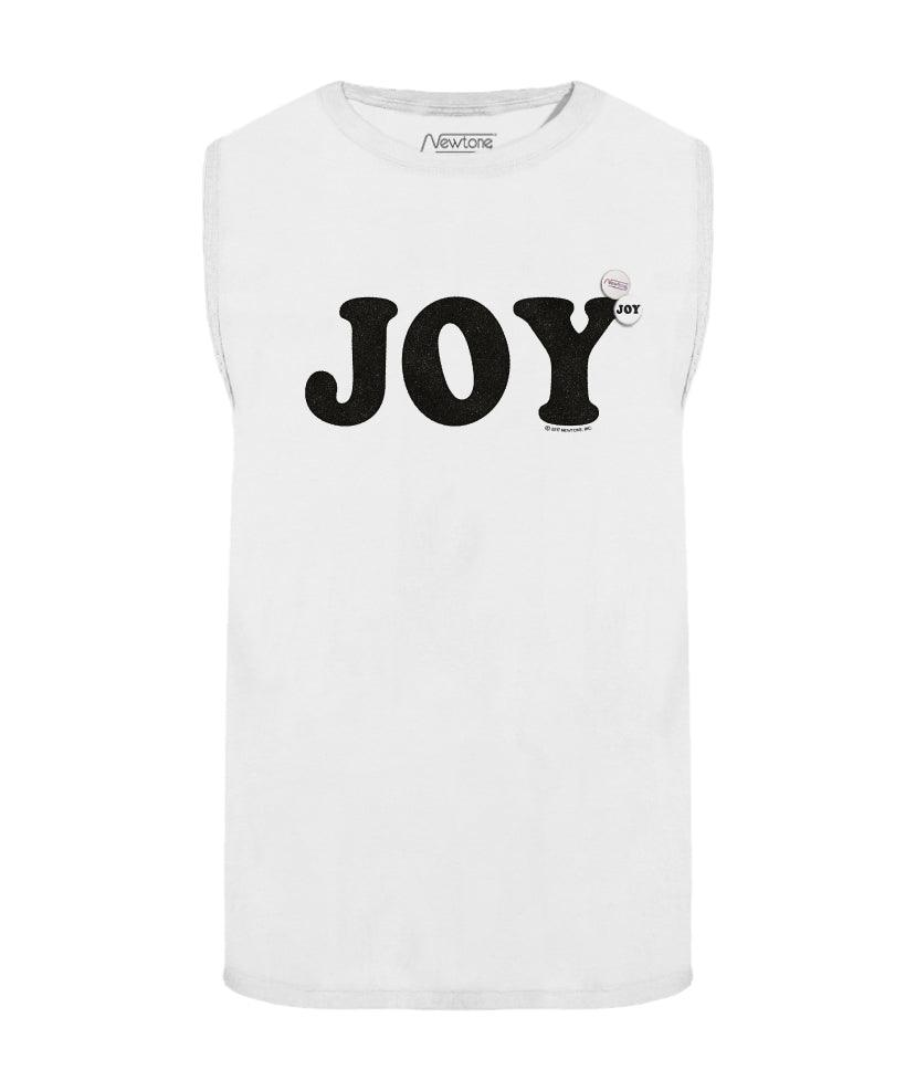 "Tee shirt sans manches off white ""JOY"""
