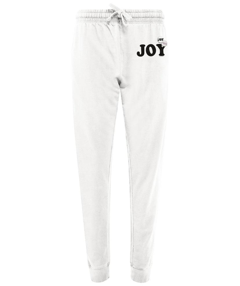 "Jogger off white ""JOY"""