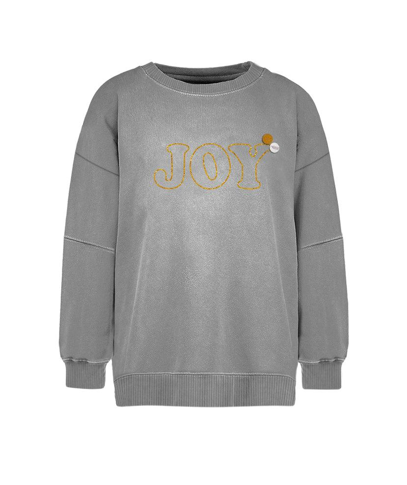 "Sweatshirt roller grey ""JOY"""