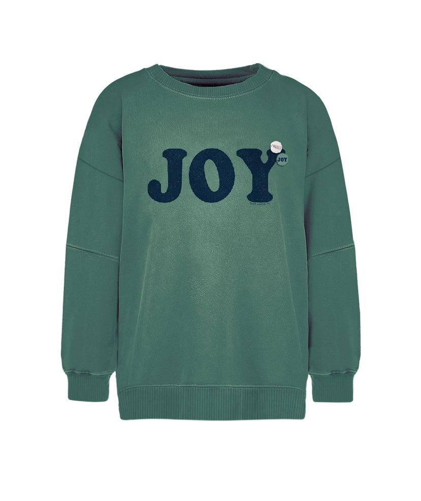 "Sweatshirt light green ""JOY"""