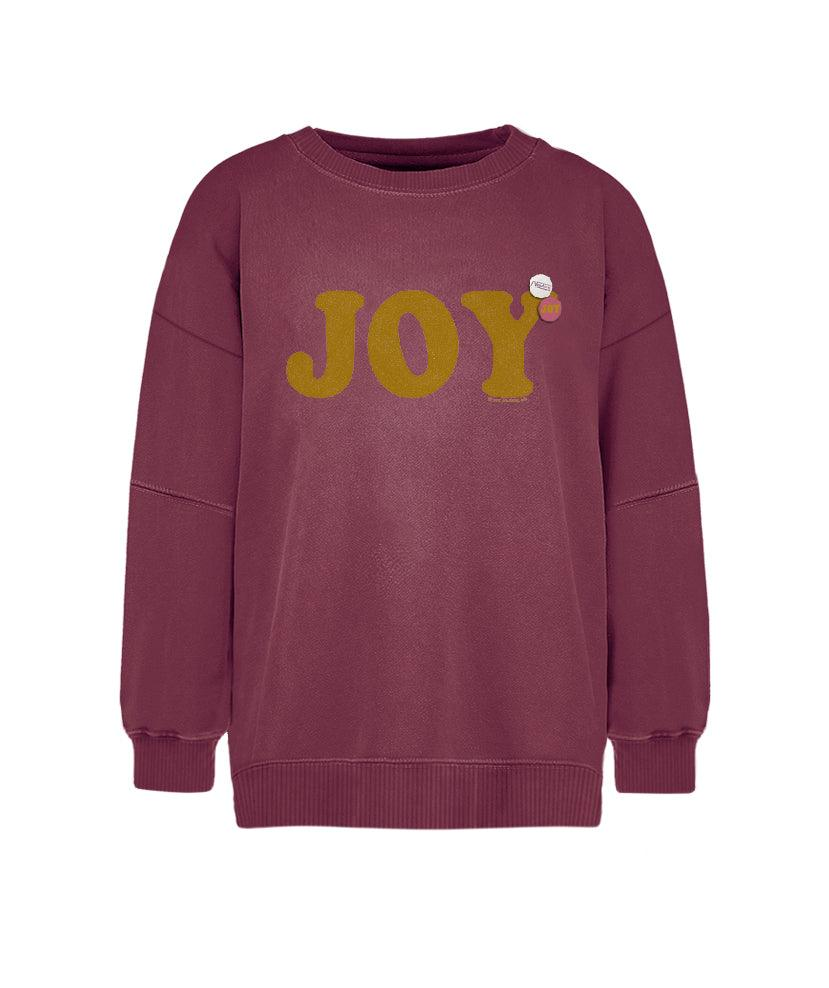 "Sweatshirt brick ""JOY"""