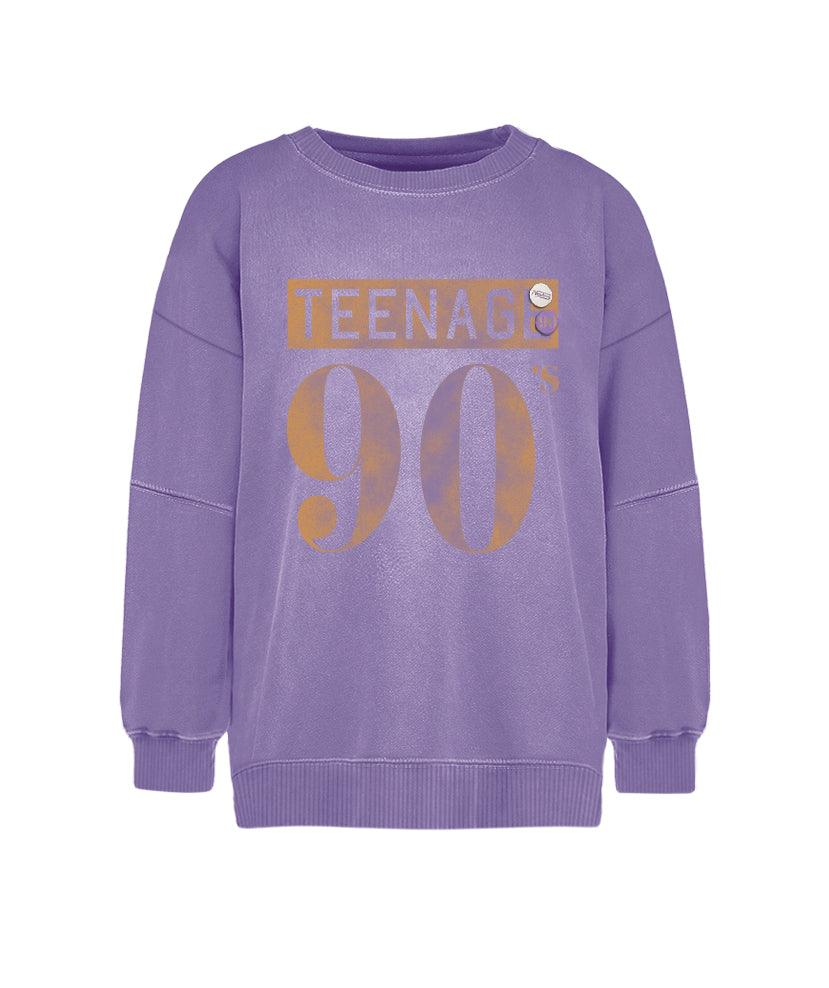 "Sweatshirt purple ""TEENAGE"""