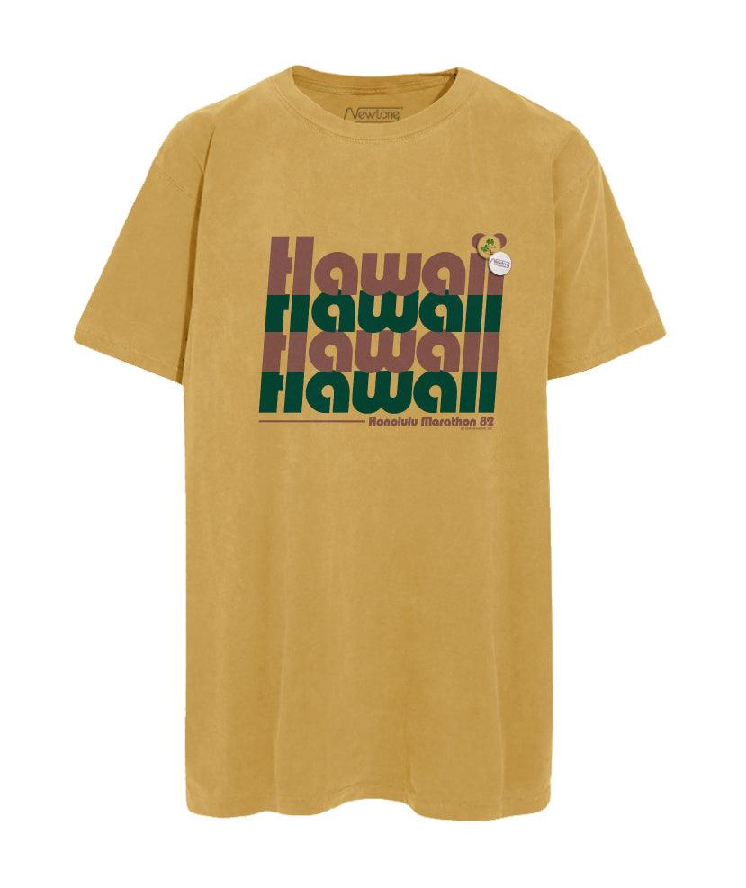 "Tee shirt mustard ""HAWAII"""