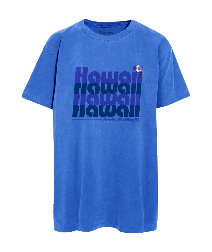 "Tee shirt flo blue ""HAWAII"""