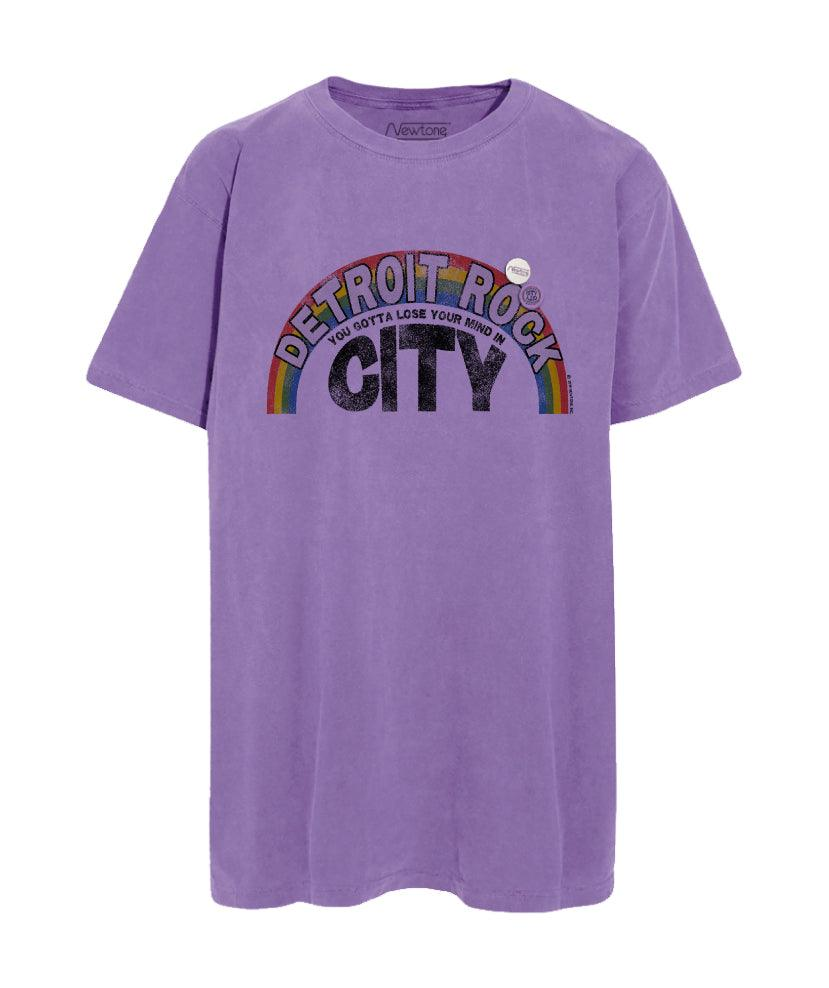 "Tee shirt purple ""ROCK CITY"""