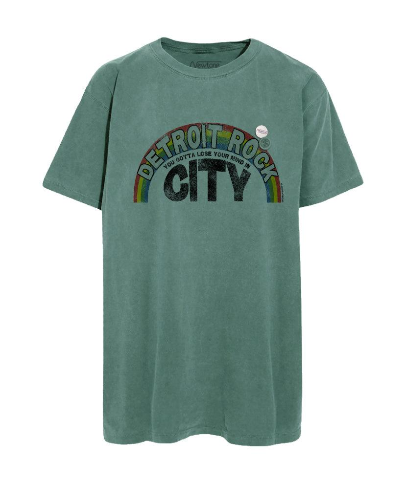 "Tee shirt light green ""ROCK CITY"""