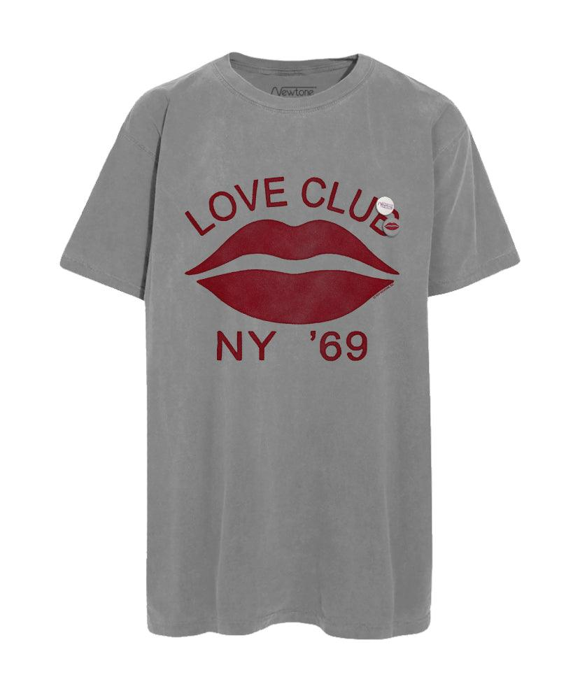 "Tee shirt grey ""LOVE CLUB"""