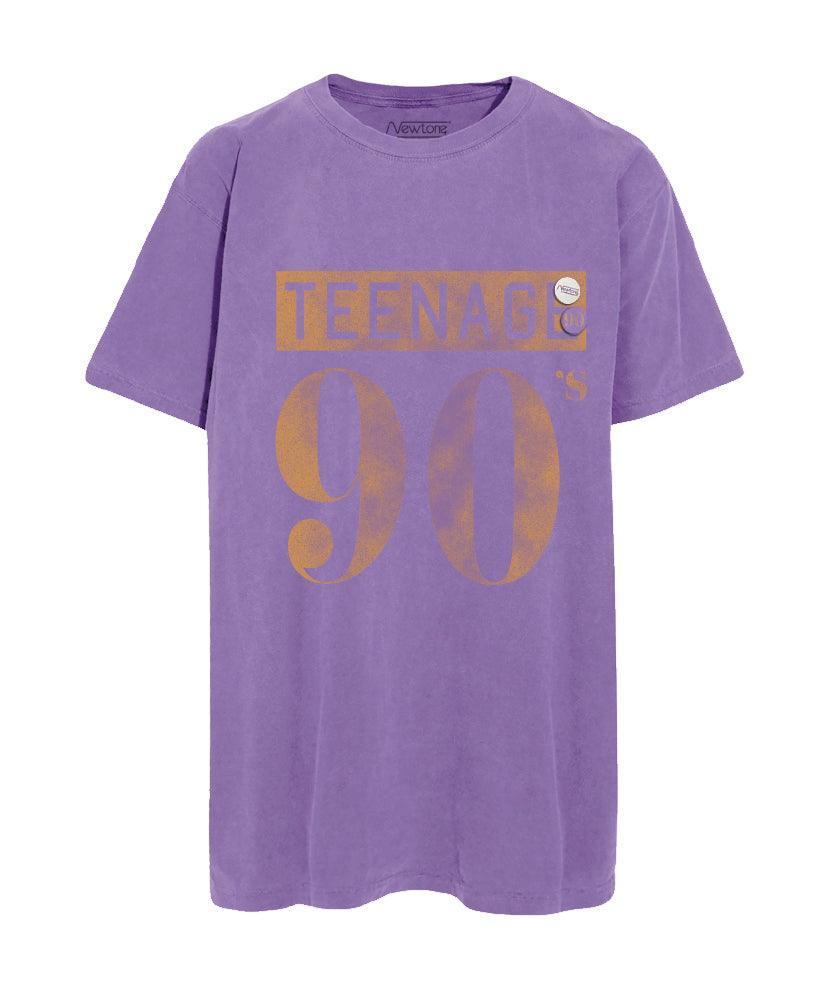 "Tee shirt purple ""TEENAGE"""