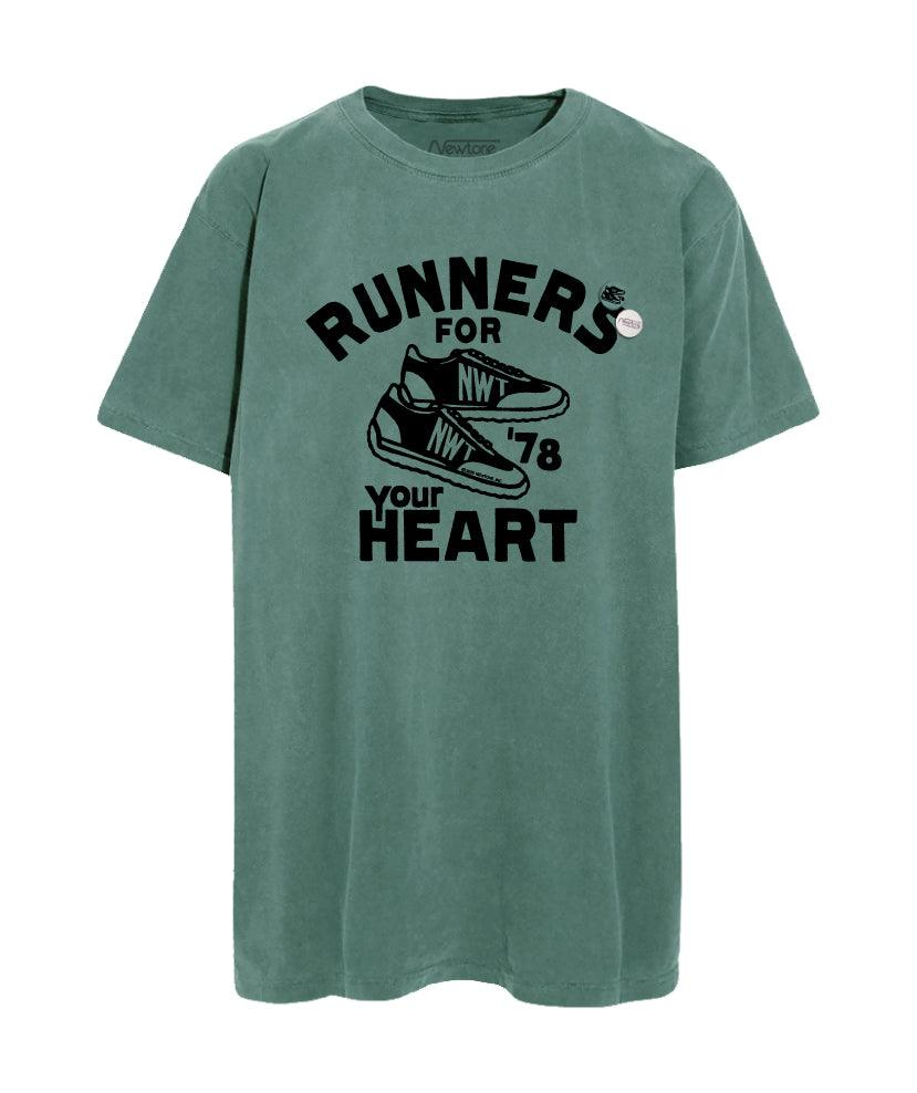 "Tee shirt trucker light green ""HEART"""