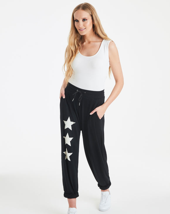 A POSTCARD FROM BRIGHTON VALERIE STAR JOGGERS IN BLACK