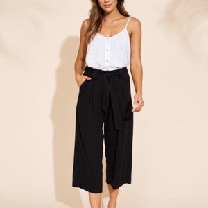 EB & IVE MANYARA CULOTTE TROUSER IN BLACK