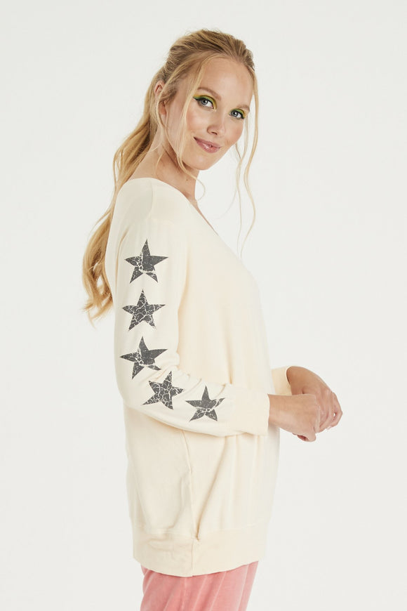 A POSTCARD FROM BRIGHTON 5 STAR SWEATER IN CREAM