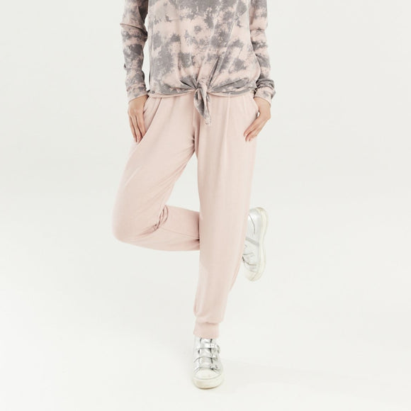 A POSTCARD FROM BRIGHTON VALERIE PLAIN JOGGERS IN PINK