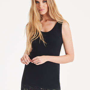 A POSTCARD FROM BRIGHTON SAMMY LACE VEST IN BLACK