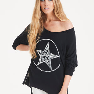 A POSTCARD FROM BRIGHTON CIRCLE STAR SWEATER IN BLACK