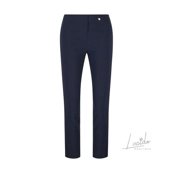 ROBELL ROSE 09 TROUSER IN NAVY 69