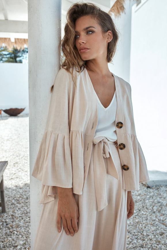 EB & IVE MANYARA JACKET IN CLAY