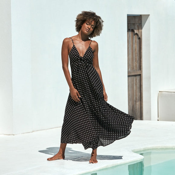 EB & IVE ZUMA SPOT MAXI DRESS