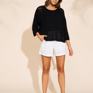 EB & IVE JAMALA JUMPER IN BLACK