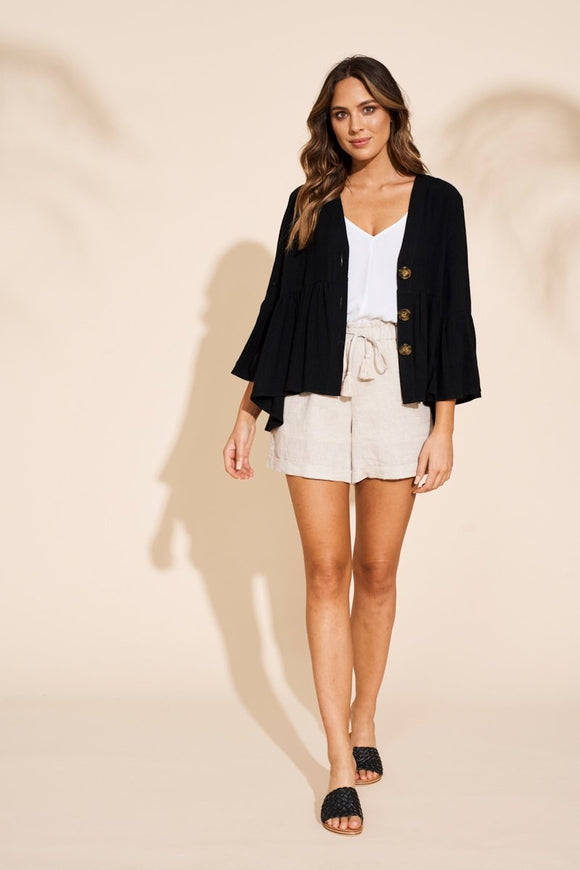 EB & IVE MANYARA JACKET IN BLACK