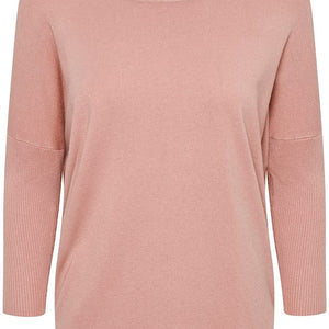 SAINT TROPEZ KNITTED PULLOVER IN ROSE