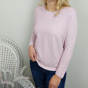 SOFT WAFFLE KNIT IN PALE PINK