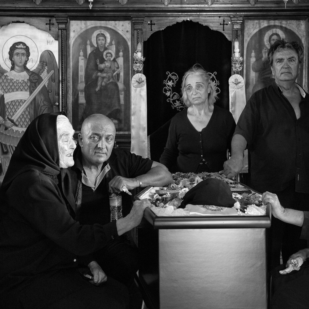 Ioanna Sakellaraki - Mourners performing the Moirologia (laments) at Skoutari village, Greece