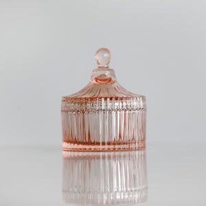 The Secret Garden- {Rose Gold} Glass Trinket Jar- 35 Hour Soy Wax Candle