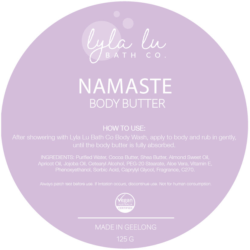 Namaste Body Butter 125g - Lyla Lu Bath Co